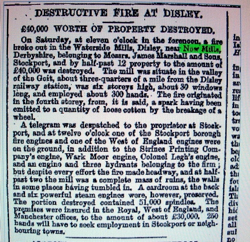 Another fire in the district. 29th September 1866