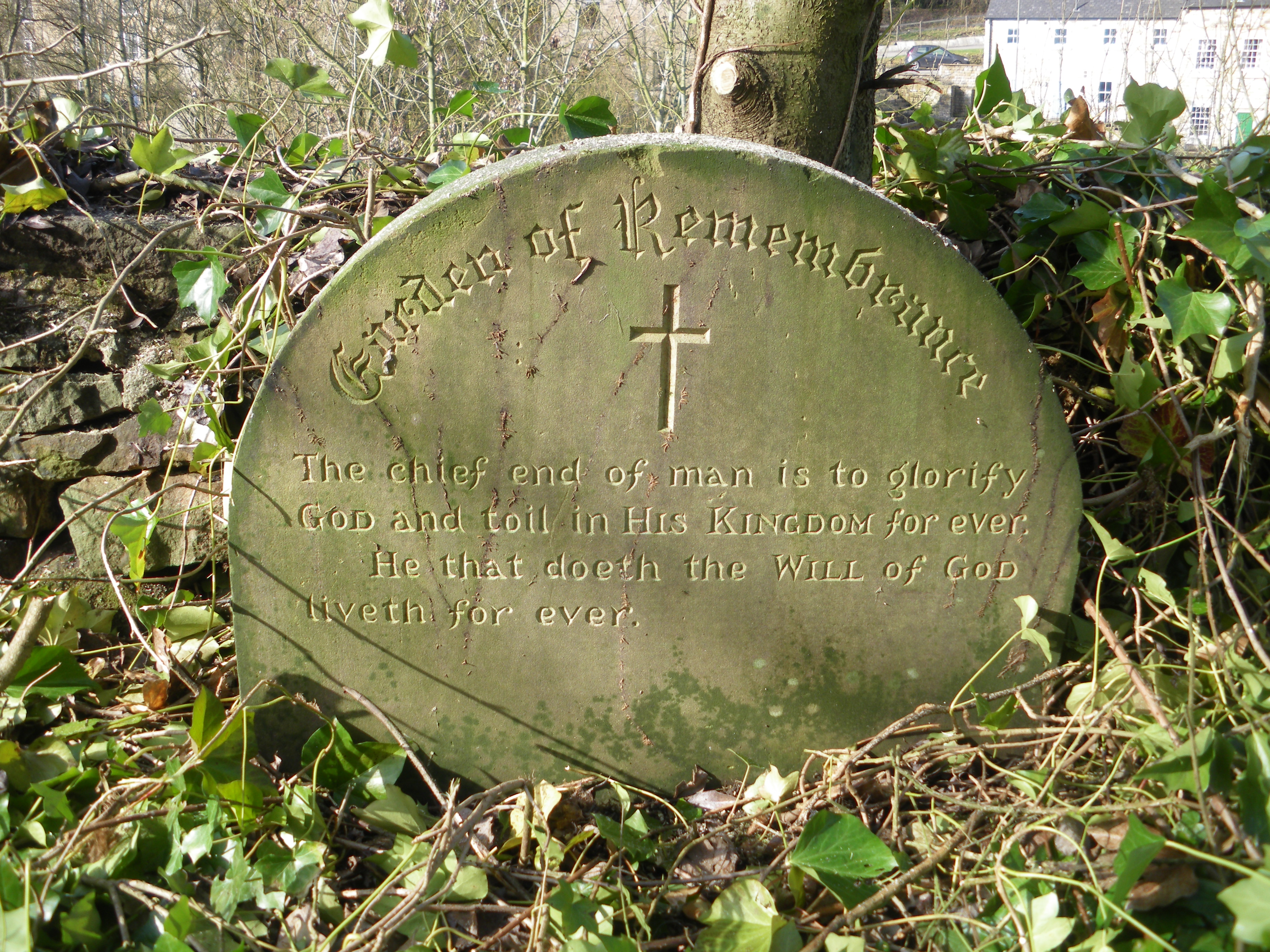 Recent clearing work in the Chapel yard have revealed several interesting memorials