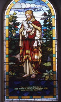 This stainglass window was installed in the chapel to commemorate the men lost in the first world war. It was removed and installed at Mount Pleasant and destroyed iby fire in the 1990's