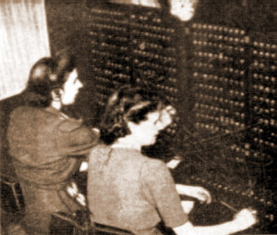 Operators at New Mills Exchange