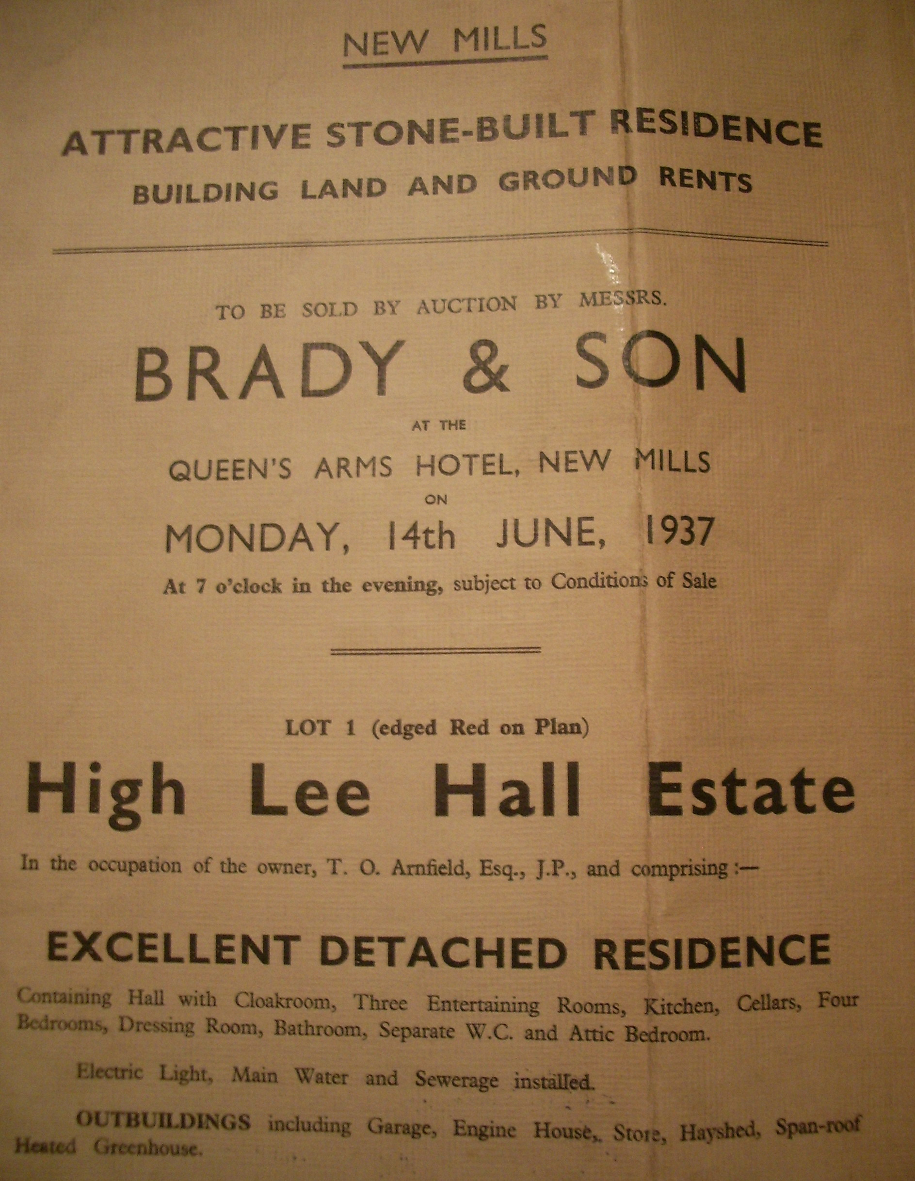 Auction of High Lee