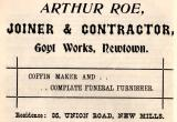 Arthur Roe, Goyt Works, Newtown