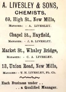 A. Livesley & Sons. 69, High Street.
