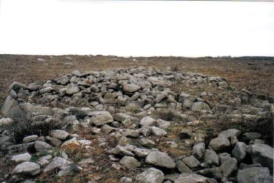 A cairn on Beeley Moor.