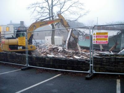 Demolition of Sett Valley House